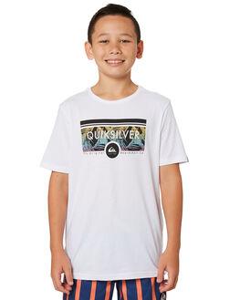 WHITE KIDS BOYS QUIKSILVER TOPS - EQBZT03885WBB0