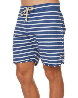 NAVY FOG STRIPE MENS CLOTHING MOLLUSK BOARDSHORTS - MS1377NFS