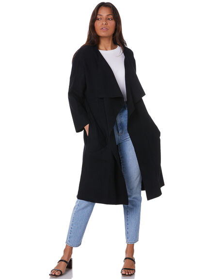 BLACK WOMENS CLOTHING SNDYS KNITS + CARDIGANS - SFK033BLK