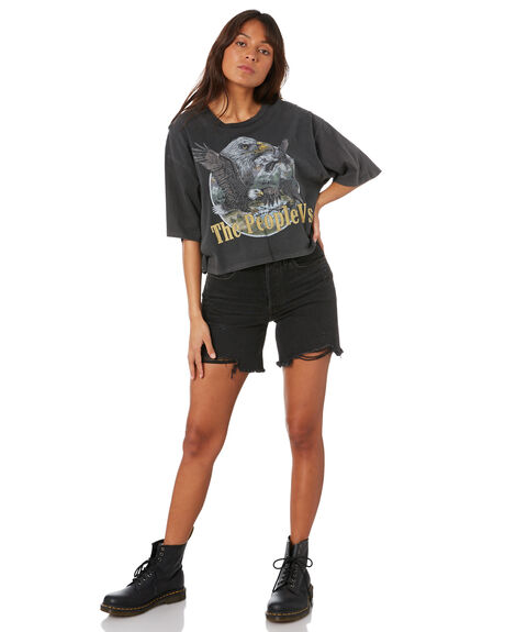 VINTAGE BLACK WOMENS CLOTHING THE PEOPLE VS TEES - SS20W008_VBLK