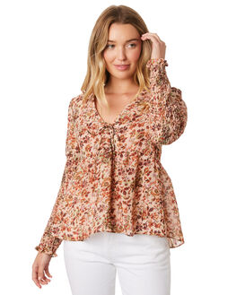 BLOSSOM FOUNTAIN WOMENS CLOTHING STEVIE MAY FASHION TOPS - SL190515TBLOSF
