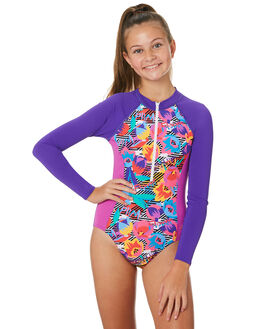 PRIMITIVE FLOWER KIDS GIRLS SPEEDO SWIMWEAR - 7740D-7824PRMFLR