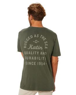 OLIVE MENS CLOTHING KATIN TEES - TSSEA02OLIVE