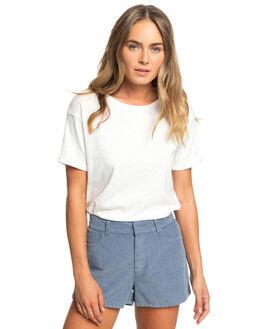 MARSHMALLOW WOMENS CLOTHING ROXY TEES - ERJZT04710-WBT0