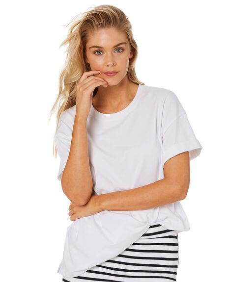 WHITE WOMENS CLOTHING BETTY BASICS TEES - BB287T21PWHT