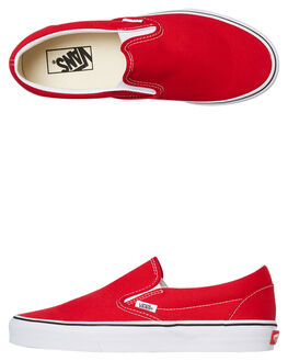 RACING RED WOMENS FOOTWEAR VANS SNEAKERS - SSVNA4BV3JV6W