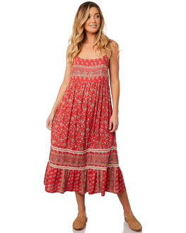 RED FLORAL WOMENS CLOTHING O'NEILL DRESSES - 4821602RFL