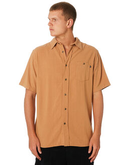 CAMEL MENS CLOTHING RUSTY SHIRTS - WSM0905CAM