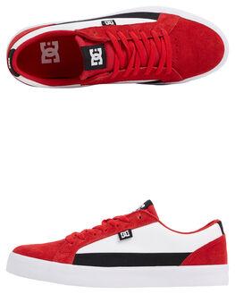 RED/BLACK/RED MENS FOOTWEAR DC SHOES SNEAKERS - ADYS300489-XRKR