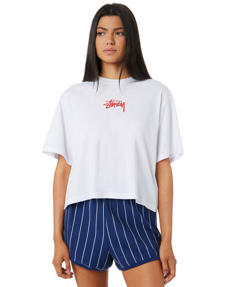 WHITE WOMENS CLOTHING STUSSY TEES - ST195023WHT