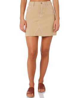 DEEP SAND WOMENS CLOTHING NUDE LUCY SKIRTS - NU23522SAND