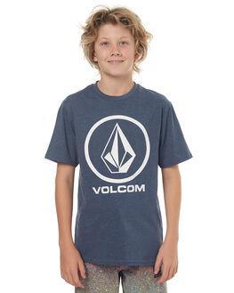 SMOKEY BLUE KIDS BOYS VOLCOM TEES - C57117G1SMB