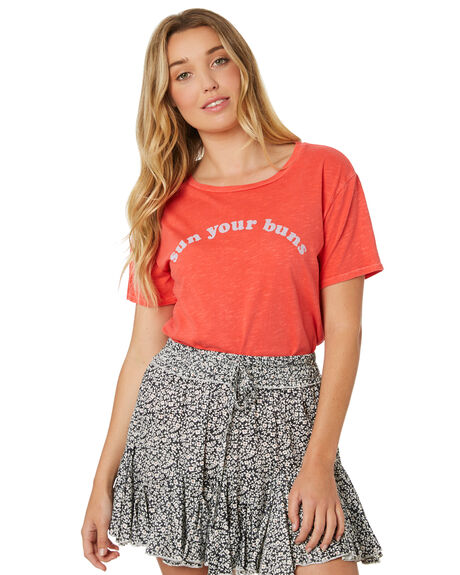 SUNSET RED WOMENS CLOTHING BILLABONG TEES - 6582022SUN