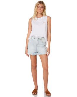 WHITE WOMENS CLOTHING HUFFER SINGLETS - WSL84J400-147-204