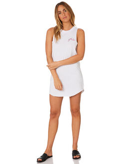 WHITE WOMENS CLOTHING RUSTY DRESSES - DRL0938WHT