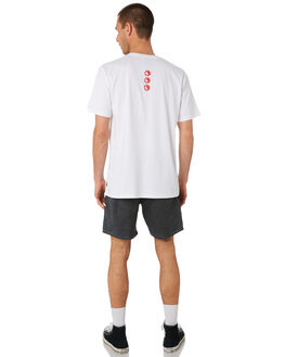 WHITE OUTLET MENS TOWN AND COUNTRY TEES - TTE416BWHT