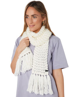 CREAM WOMENS ACCESSORIES RUSTY SCARVES + GLOVES - MAL0106CRM