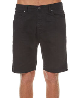 ORGANIC BLACK MENS CLOTHING DR DENIM SHORTS - 1710111-A06