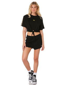BLACK WOMENS CLOTHING STUSSY TEES - ST183107BLK