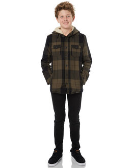 OLIVE KIDS BOYS SWELL JUMPERS + JACKETS - S3172166OLIVE