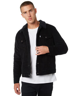 BLACK CORD MENS CLOTHING LEVI'S JACKETS - 16365-0068
