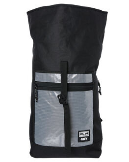 BLACK MENS ACCESSORIES OBEY BAGS + BACKPACKS - 100010115BLK