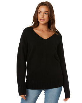 BLACK WOMENS CLOTHING RUSTY KNITS + CARDIGANS - CKL0334BLK