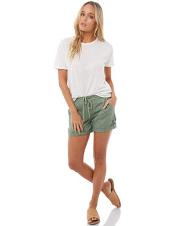 OLIVE WOMENS CLOTHING ROXY SHORTS - ERJNS03135GLW0