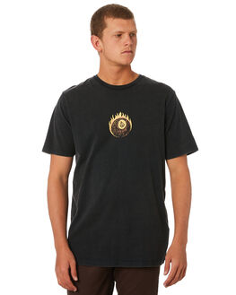BLACK MENS CLOTHING VOLCOM TEES - A4311974BLK
