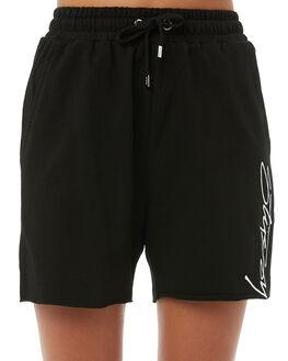 BLACK WOMENS CLOTHING STUSSY SHORTS - ST185619BLK