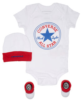 CONVERSE RED WHITE KIDS BABY CONVERSE CLOTHING - RLC0028R4F