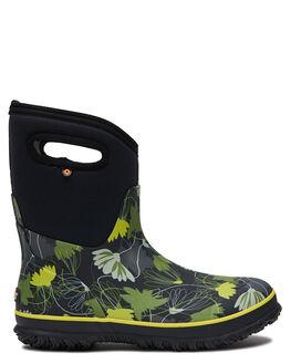 BLACK MULTI WOMENS FOOTWEAR BOGS FOOTWEAR BOOTS - 972391011