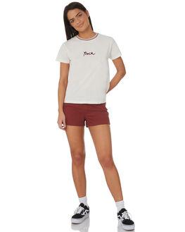 VINTAGE WHITE WOMENS CLOTHING RVCA TEES - R282044VWHI