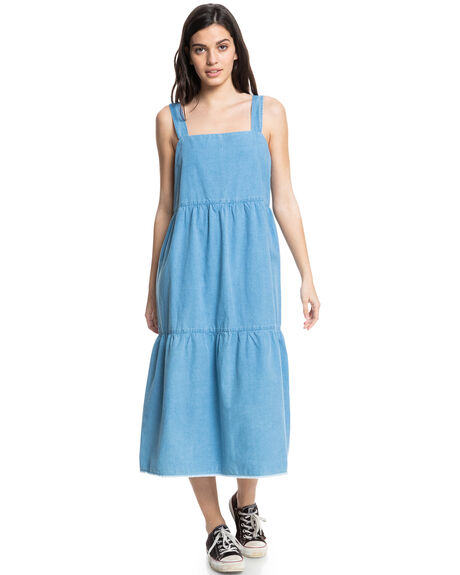 CHAMBRAY BLUE WOMENS CLOTHING QUIKSILVER DRESSES - EQWWD03038-BZR0