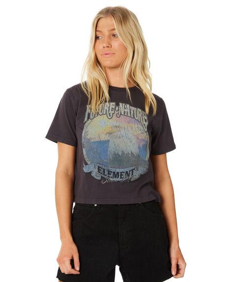 FLINT BLACK WOMENS CLOTHING ELEMENT TEES - 286005IFL