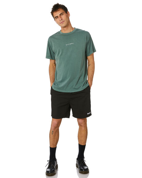 LUME GREEN MENS CLOTHING THRILLS TEES - TH20-107FLMGRN