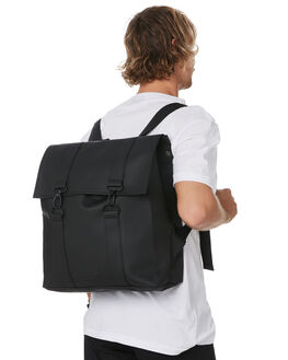 BLACK MENS ACCESSORIES RAINS BAGS + BACKPACKS - RNS1213BLK