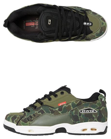 GREEN CAMO MENS FOOTWEAR GLOBE SNEAKERS - SSGBCTIVC19993M