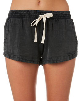 BLACK WOMENS CLOTHING RIP CURL SHORTS - GWACL80090