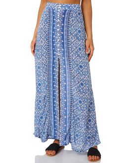 AMPARO BLUE WOMENS CLOTHING RUSTY SKIRTS - SKL0472BLUE