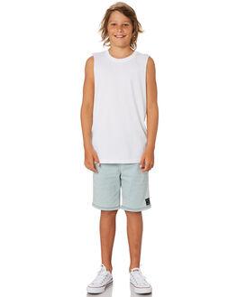 WHITE KIDS BOYS AS COLOUR TOPS - 3010-WHT