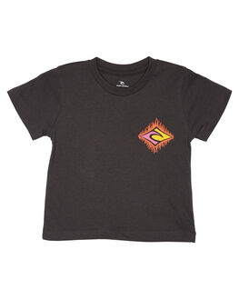 WASHED BLACK KIDS BOYS RIP CURL TOPS - OTEVR28264