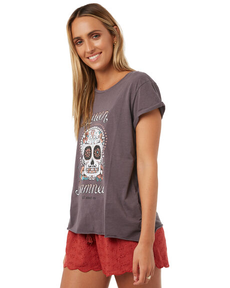 GREY WOMENS CLOTHING ALL ABOUT EVE TEES - 6403051GREY
