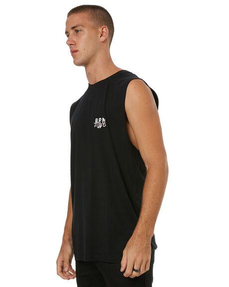 BLACK MENS CLOTHING RPM SINGLETS - 7HMT06ABLK