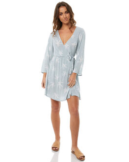 CLOUD BLUE WOMENS CLOTHING BILLABONG DRESSES - 6585484CBLU