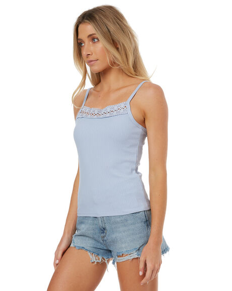PALE BLUE WOMENS CLOTHING THE HIDDEN WAY FASHION TOPS - H8171174PBLUE