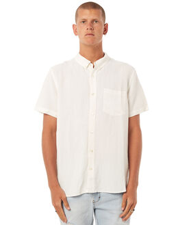 WHITE LINEN MENS CLOTHING NEUW SHIRTS - 326991096