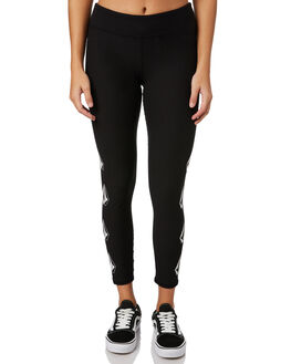 BLACK WOMENS CLOTHING VOLCOM PANTS - B113317T0BLK