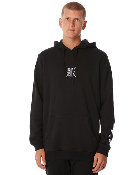 BLACK MENS CLOTHING RVCA JUMPERS - R183166BLK