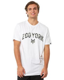 WHITE MENS CLOTHING ZOO YORK TEES - ZY-MTA8124WHT